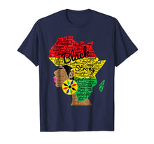 Load image into Gallery viewer, African American Woman With Afro Word Art Natural Hair Shirt