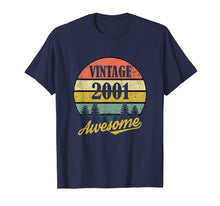 Load image into Gallery viewer, Retro Vintage 2001 TShirt 18th Birthday Gifts 18 Years Old