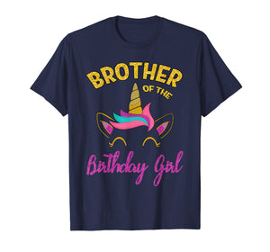 Brother of the Unicorn Birthday Girl T-Shirt Matching Shirt