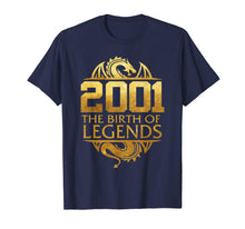 Load image into Gallery viewer, 2001 The Birth Of Legends Gift For 18 Yrs Years Old 18th