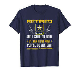Retired US Army Veteran T-shirt Gift For Veteran Day