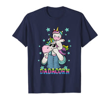 Load image into Gallery viewer, Dadacorn Unicorn Dad And Baby Fathers Day T-Shirt