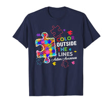 Load image into Gallery viewer, Autism Awareness T shirt Colour Outside The Line