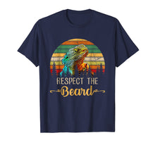 Load image into Gallery viewer, Respect The Beard T shirt Funny Bearded Dragon T-shirt