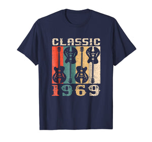 1969 Classic Rock Retro 50th Birthday Gift T-Shirt Guitar