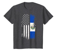 Load image into Gallery viewer, Salvadoran America Flag T-Shirt - El Salvador USA Shirt