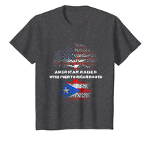 Load image into Gallery viewer, American Raised with Puerto Rican Roots USA Flag T-Shirt