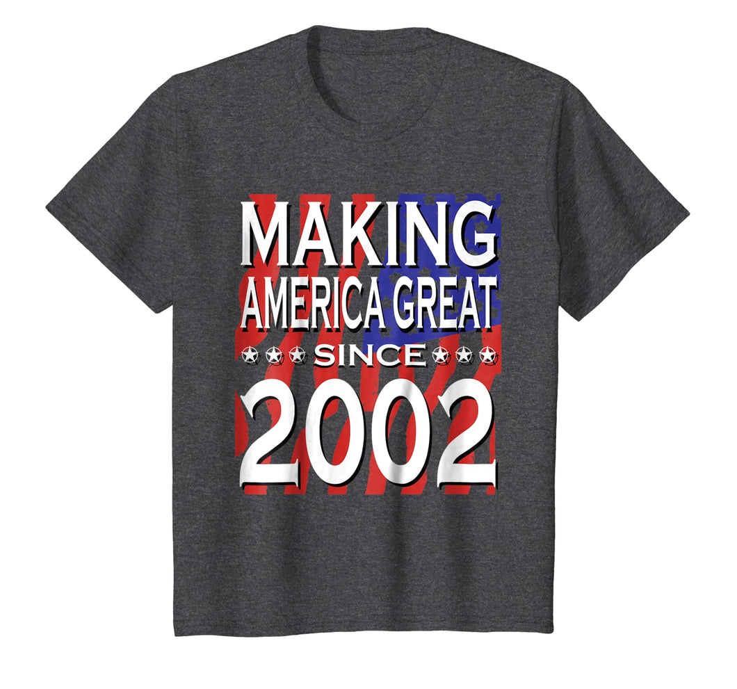 17th Birthday Vintage Made in 2002 Gift ideas Man T shirt