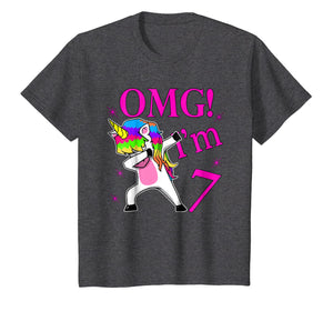 2012 Bday Gift OMG! I'm 7 years Old Unicorn Dabbing TShirt