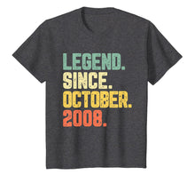 Load image into Gallery viewer, Legend Since October 2008 11th Birthday 11 Years Old Gift T-Shirt