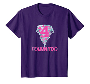 Kids Boy or Girl 4th Birthday Gift Tshirt - They are the Fournado