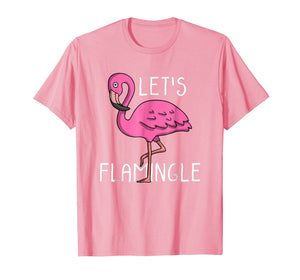 Let's Flamingle Cute Pink Flamingo Summer Lover T-Shirt