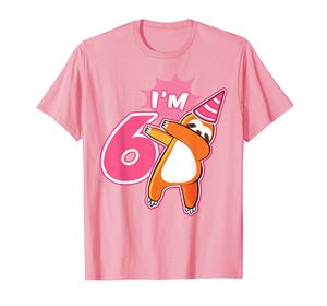 Kids Sloth Birthday Party Shirt Gift 6 Year Old Girl or Boy
