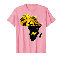 Load image into Gallery viewer, African Savannah safari wildlife Africa map t-shirt