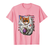 Load image into Gallery viewer, T-Shirt, Cat as Pilot Astronaut, Space Shuttle Commander