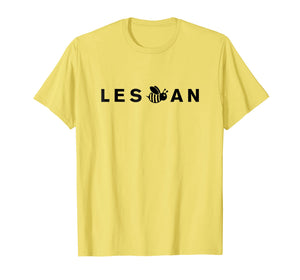 Les Bee An T-Shirt Funny Gay Lesbian Pride Bee Emoji Gift