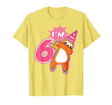 Load image into Gallery viewer, Kids Sloth Birthday Party Shirt Gift 6 Year Old Girl or Boy