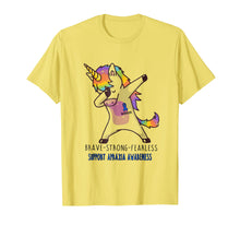 Load image into Gallery viewer, Brave strong Fearless Unicorn Apraxia Awareness Shirt
