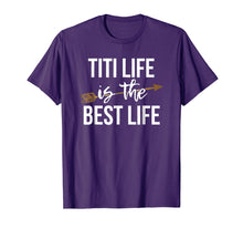 Load image into Gallery viewer, Gold Arrow Titi Life is The Best Life Shirt Grandma TShirt