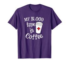 Load image into Gallery viewer, Coffee Lovers Phlebotomy Tshirt for Women Phlebotomists