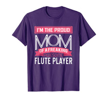 Load image into Gallery viewer, Proud Mom Awesome Flute Player Marching Band T-Shirt
