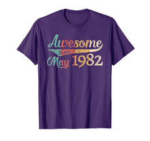 Load image into Gallery viewer, Awesome Since May 1982 T-shirt Vintage 37th Birthday Gift