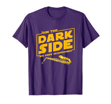 Load image into Gallery viewer, Join The Dark Side Saxophone Player T-shirt