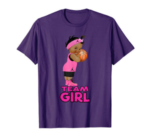 Ethnic Basketball Team Girl Baby Shower T-Shirt