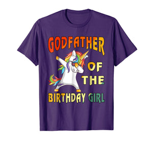 2018-Men-Women- GODFATHER of the Unicorn Birthday Girl T-Shi