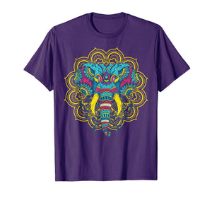 Elephant Lover t shirt; Colorful Elephant t shirt; Mandala