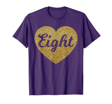 Load image into Gallery viewer, Eight - 8th Birthday Shirt for Girls, Heart Design