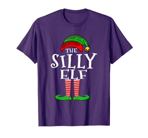 The Silly Elf Matching Family Pajama top Christmas Gift T-Shirt