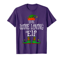 Load image into Gallery viewer, The Wine Loving Elf Family Matching Funny Christmas Gift T-Shirt