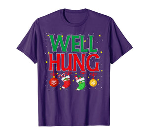 Well Hung Christmas Stocking - Offensive Inappropriate Gift T-Shirt
