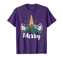Load image into Gallery viewer, Unicorn Christmas Holly Merry Cute Gift for Girls Women T-Shirt