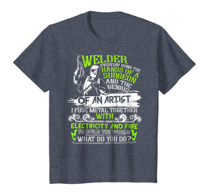 Welder T Shirt, The Genius Of An Artist T Shirt