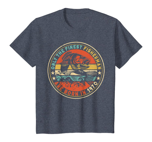 Gift for 50 Year Old: Fishing Fisherman 1970 50th Birthday T-Shirt
