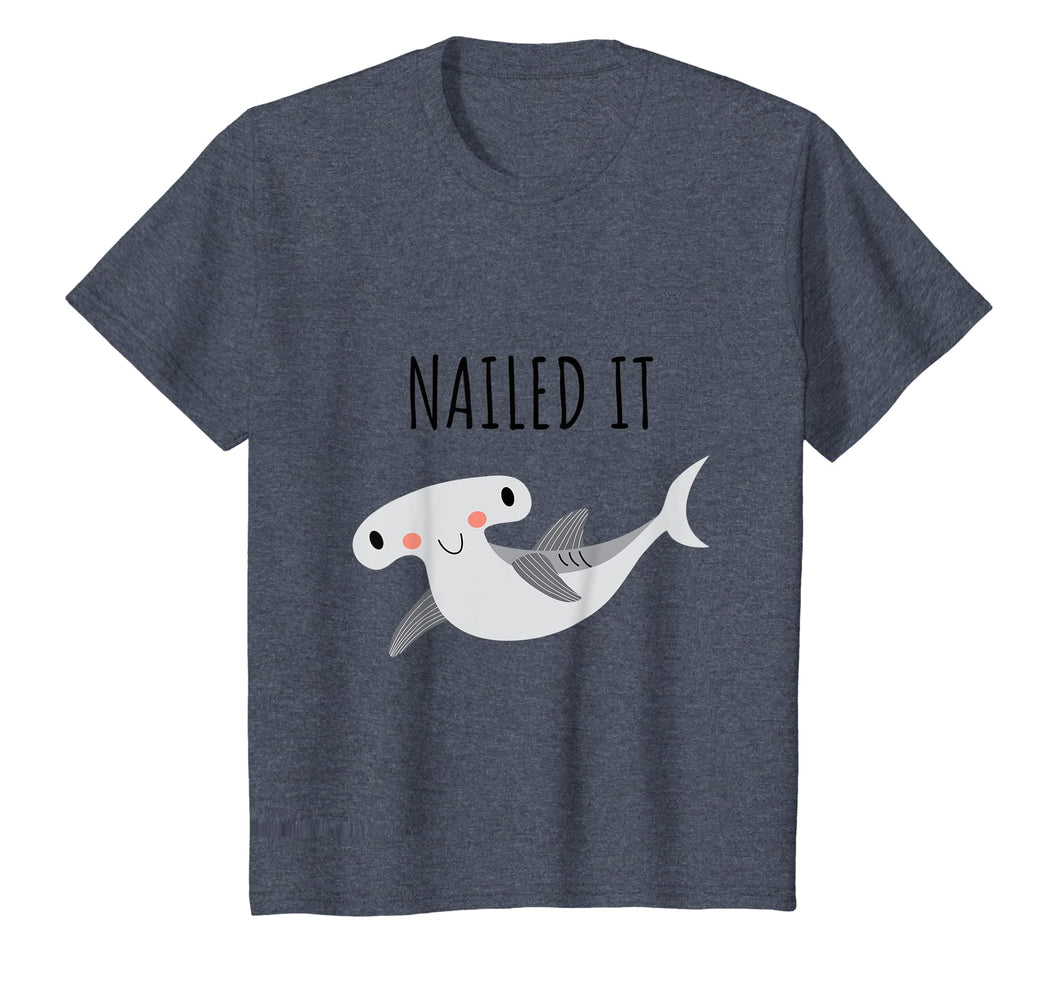 Kids Nailed It T-Shirt Funny Hammerhead Shark Kids Tee