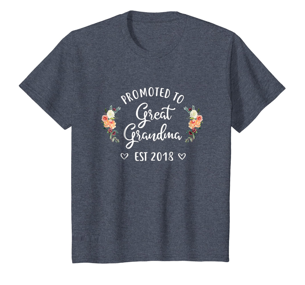 Promoted to Great Grandma Est 2018 T-Shirt