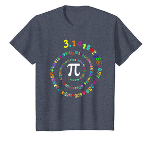 Pi Spiral Novelty T-Shirt for Pi Day Kids Teacher