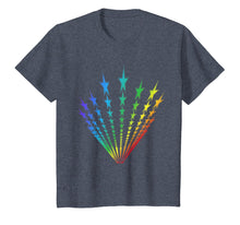 Load image into Gallery viewer, Rainbow Star Flag LGBT Funny Gift Tshirt