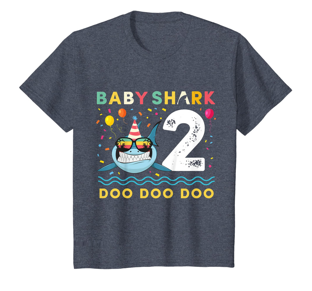 Kids Baby Shark Shirt Toddler 2nd birthday 2 Year Old Boy or Girl