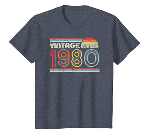 1980 Vintage T Shirt, Birthday Gift Tee. Retro Style Shirt.