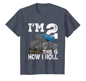 Kids Monster Truck Rally 2nd Birthday Party Shirt - Second Bday