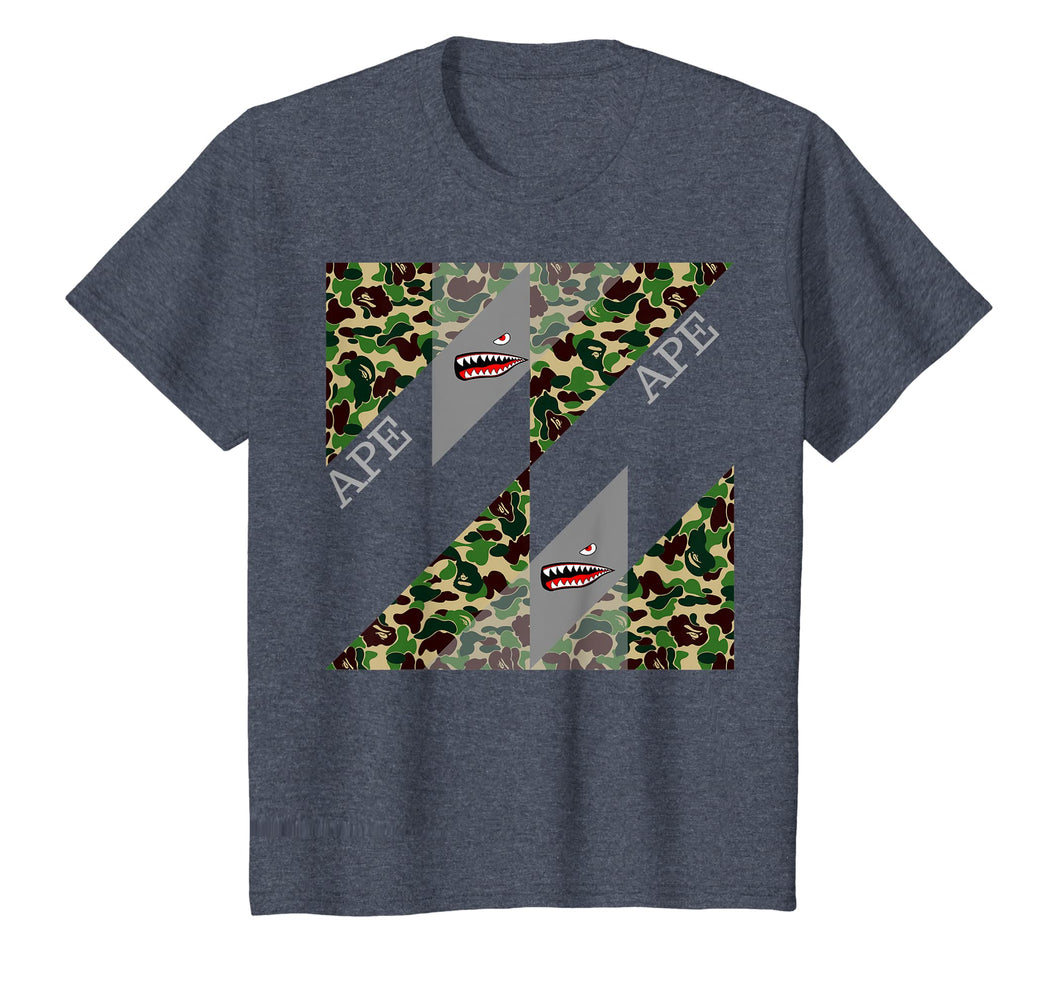 ape Camo bathing Tshirt designer adult kids T
