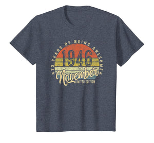 Vintage November 1946 73rd Birthday Gifts 73 Years Old T-Shirt