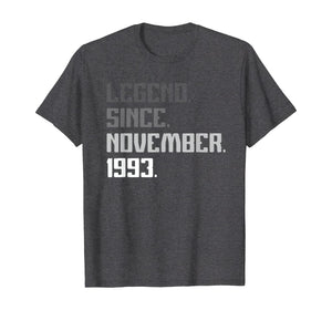 Vintage Legend November 1993 26 Years Old 26th Birthday Gift T-Shirt
