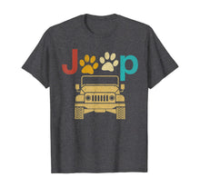 Load image into Gallery viewer, Vintage Jeeps Retro 70s Sunset Paw Print Dog Cat Lover Gift T-Shirt