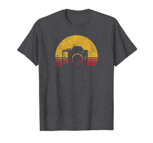 Vintage Retro Sunset Camera Photographer Gift T-Shirt
