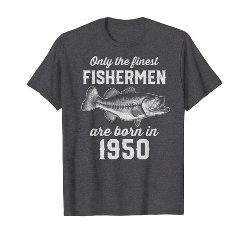 Gift for 70 Year Old: Fishing Fisherman 1950 70th Birthday T-Shirt